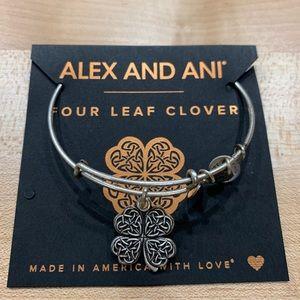 Alex and Ani Four Leaf Clover Charm Bangle